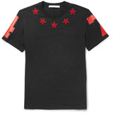 Givenchy - Cuban-fit Star-appliqué Cotton-jersey T-shirt