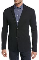 Emporio Armani Textured Cotton Jersey Jacket