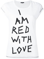 Ann Demeulemeester printed text T-shirt - women - Cotton - 40