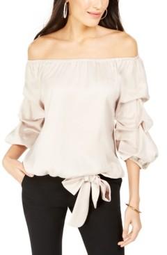 MSK Off-The-Shoulder Puff Sleeve Top
