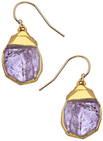 Janna Conner Designs Gold and Amethyst Nugget Teardrop Earrings