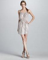 Sequined Leopard-Print Dress