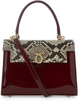 Launer Judi python-skin leather tote