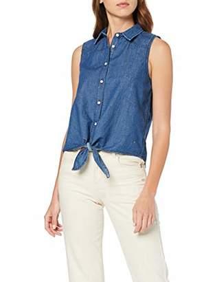 Mustang Women's Tie Denim Shirt Blouse,14 (Size: )