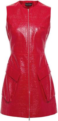 David Koma Coated Cotton-blend Boucle Mini Dress
