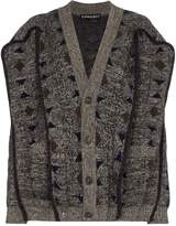 Y/Project oversized geometric-knit cardigan