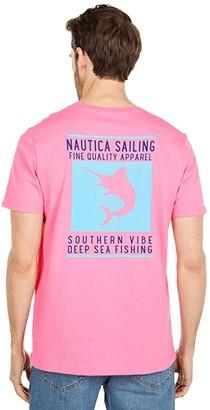 Nautica Tee Deep Sea Fish (Red) Men's Clothing