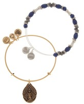 Alex and Ani French Royalty Beaded Guardian Angel Wire Bangle Bracelets - Set of 2
