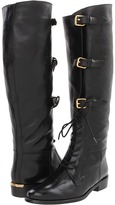 Burberry Lace Up Equestrian Leather Boots (Black) - Footwear