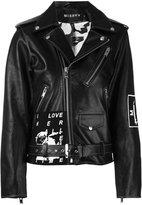 Misbhv 'Warszawa' printed biker jacket