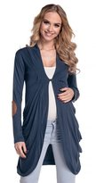 Happy Mama Boutique Happy Mama. Women's Maternity Jersey Cocoon Cardi Coat Jacket Patches. 286p