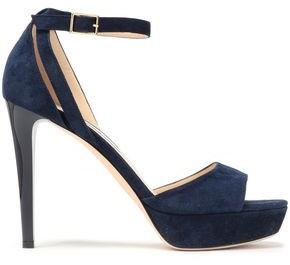 Jimmy Choo Kayden 115 Cutout Suede Platform Sandals