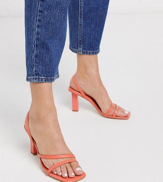 Z Code Z Z_Code_Z Exclusive Malika vegan strappy square toe sandals in coral