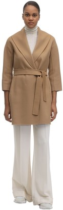 Max Mara 'S Belted Virgin Wool Coat