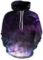 Jiayiqi Unisex Adult Hoodie Pretty Star Printing Hooded Sweatshirt Plus Size XL
