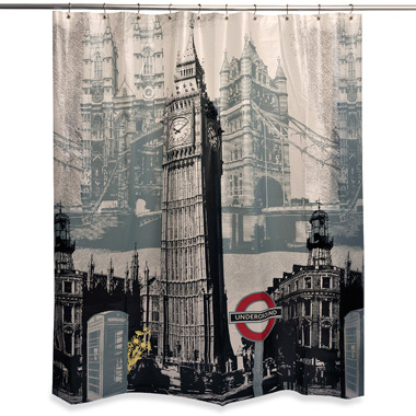Bed Bath & Beyond London Sights 70-Inch x 72-Inch Shower Curtain