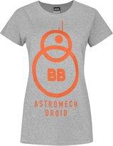 Star Wars Official The Force Awakens BB-8 Astromech Droid Women's T-Shirt (S)