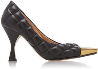 Bottega Veneta Dream Quilted Leather Cap-Toe Pumps