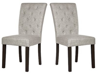 BEIGE Nanami Tufted Upholstered Parsons Chair in Red Barrel Studio