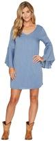 Wrangler V-Neck Flutter Sleeve Dress Women's Dress