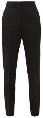 Jil Sander Slim-leg Wool-crepe Trousers - Black