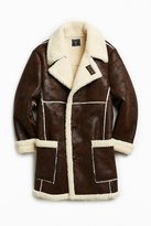 Urban Outfitters Faux Shearling Barn Coat
