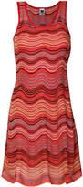 M Missoni striped knit flared dress