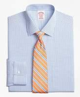 Brooks Brothers Non-Iron Madison Fit Tonal Sidewheeler Check Dress Shirt