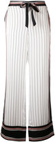 Equipment x Kate Moss striped trousers - women - Silk - M