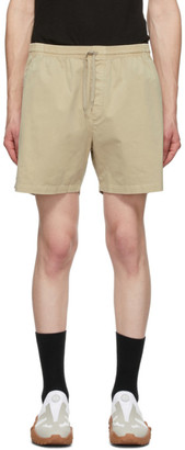 Schnaydermans Beige Cotton Twill Shorts