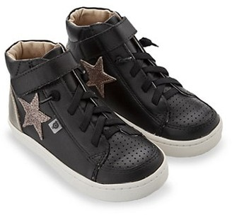 Old Soles Kid's Champster Leather High-Top Sneakers