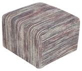 "Surya Syriaca Striped Cube Pouf 18"" x 18"""