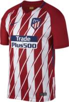 Nike 2017/18 Atletico de Madrid Stadium Home Men's Soccer Jersey Size Large (Red) - Clearance Sale