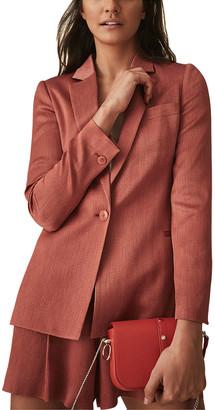Reiss Ayla Fluid Textured Jacket