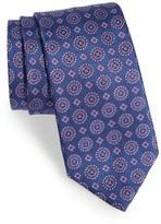 David Donahue Men's Geometric Silk Tie