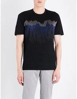 Brioni Intarsia-wave cotton T-shirt