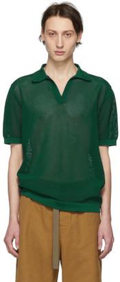 Dries Van Noten Green Knit Nestor Polo