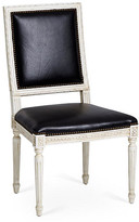 One Kings Lane Exeter Side Chair - Black Leather