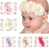 Lookatool 5PC Babys Girls Elastic Headband Chiffon Flower Photography Headbands
