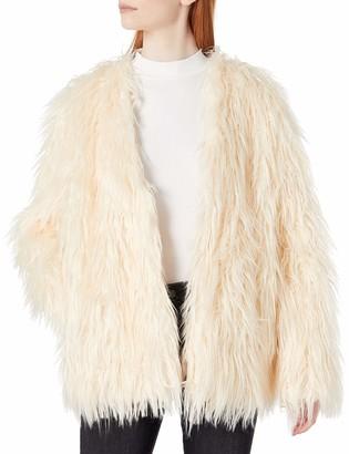 MinkPink Women's OTT Long Luxe Fur Jacket