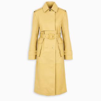 REMAIN Birger Christensen Yellow Pirello leather trench coat