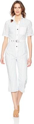 For Love & Lemons Women's Hermosa Striped Eyelet Jumpsuit