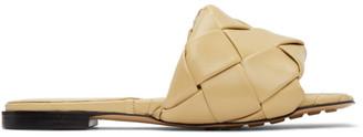 Bottega Veneta Beige Intrecciato Lido Sandals