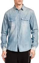The Kooples Faded Denim Slim Fit Shirt