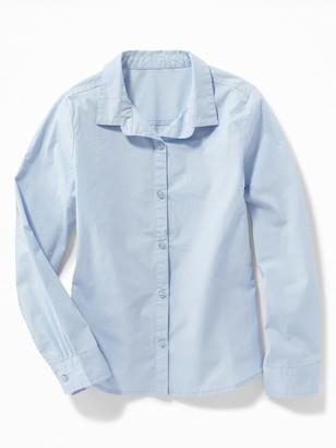 Old Navy Stretch-Poplin Uniform Shirt for Girls