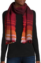 Fraas Ombr Check Oversized Scarf