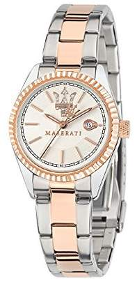 Three Hands Maserati Women's Watch, Competizione Collection, Quartz Movement, Version with Date, Stainless Steel and Rose Gold pvd Watch - R8853100504