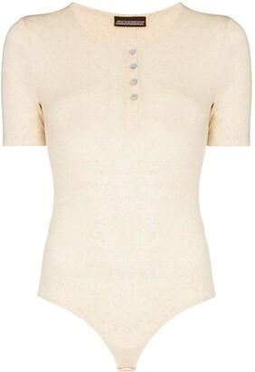 Fantabody Short-Sleeve Knit Bodysuit