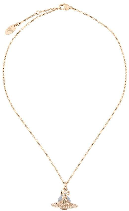 Vivienne Westwood rhinestone logo necklace