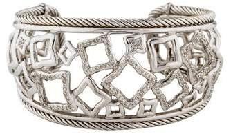 David Yurman Diamond Wide Quatrefoil Cuff